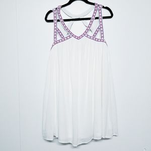 Flying tomato white strap dress size M